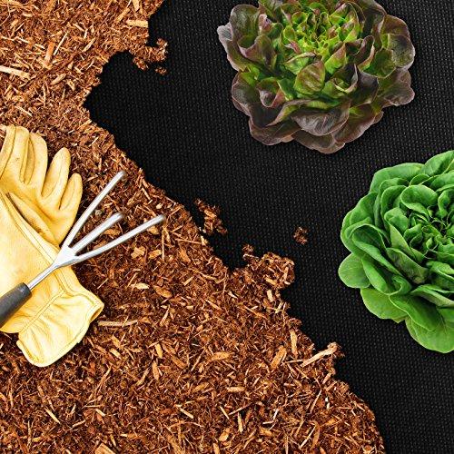 casa pura® Ogräsdukar   trädgårdsfleece   fuktgenomsläpplig   Tjocklek: 50 g/m²   många storlekar (1,5 m x 5 m)