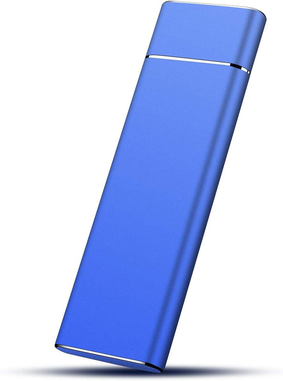External Hard Drive, Slim Portable Hard Drive USB 3.0 Storage 1TB 2TB Compatible with PC, Laptop and Mac (2TB, Blue)
