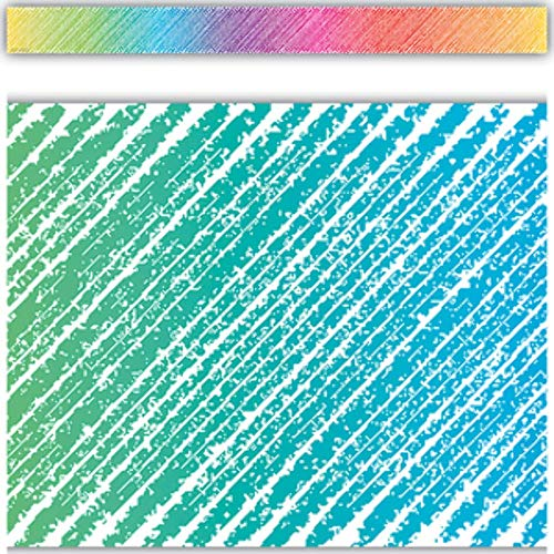 Teacher Created Resources Colorful Scribble Straight Border Trim