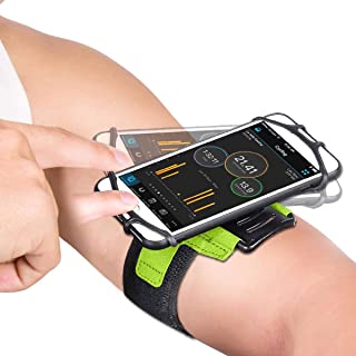 APzek Running Armband, 180° Rotatable Phone Armband for iPhone Xs Max Xs Xr X 8 Plus 8 7 6s Plus, Galaxy S10+ S10 S10e S9 S8 S7, Sports Armband Workout Phone Holder for Running Jogging (Green)