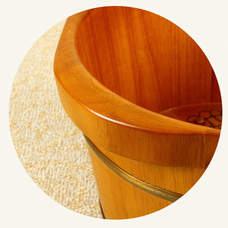 LHA Holz Fubad Barrel mit Deckel gedmpft Fu Barrel Fu Becken Gesundheit Massage Durable Thick Foot Tub (Farbe   B)