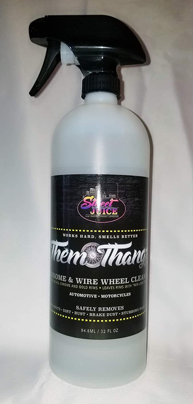 Them Thangz TT32 - Street Juice Products 32oz Chrome & Wire Wheel Cleaner