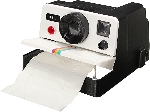 CLSstar Newest Funny Retro Camera Shaped Toilet Tissue Paper Roll Holder Box Cove