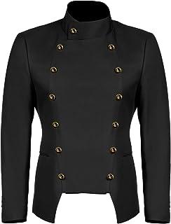 JINIDU Men's Casual Double-Breasted Suit Coat Jacket Business Blazers