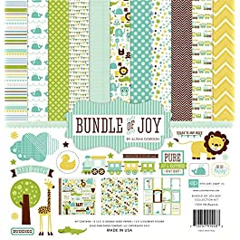 Echo Park Paper BJB46016 Bundle of Joy Boy Collection Scrapbooking Kit