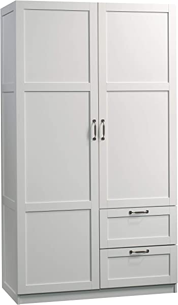 Sauder 420495 Storage Cabinet L 40 00 X W 19 45 X H 71 10 White Finish