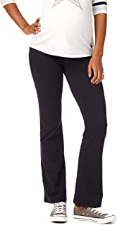 Women's Maternity Active Fold Over Belly Boot Cut Yoga Pants