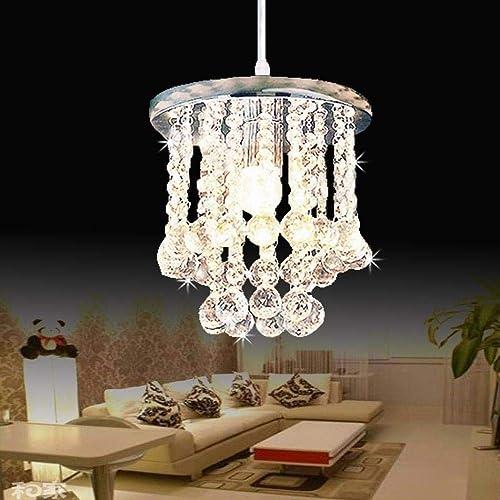 Lustre en cristal moderne LED lustre en cristal AC110-260 lampe en cristal éclairage LED luminaire éclairage de salon, d'argent