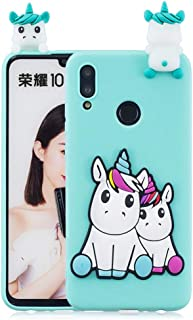 Huawei Honor 10 Lite Unicorn 3D Pattern Printing Case Cover - Blue.