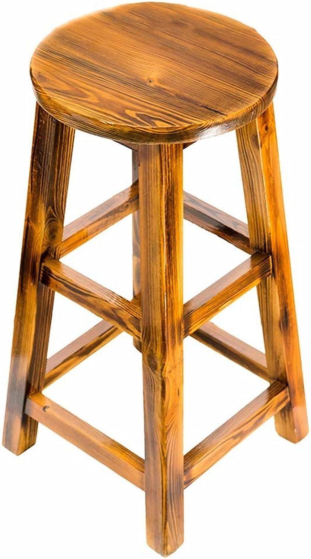 ZfgG Stool Modern Minimalist Bar Solid Wood High Stool Bar Chair Home Dining Chair,Applicable Bar Restaurant Counter (Size   36  70cm)