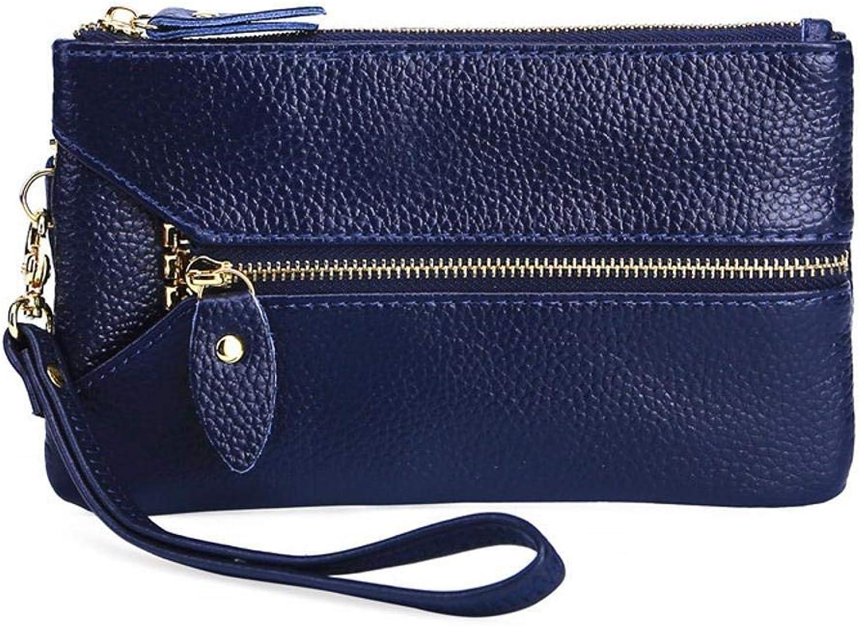Girls Purse Women's Wallet PU Leather Lady Wallet Mobile Phone Bag Multifunctional Bag Key Buckle Bag (color   C)