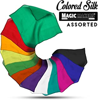 Magic Makers 9 Inch Assorted Color Silks - Professional Grade (12 Pack)