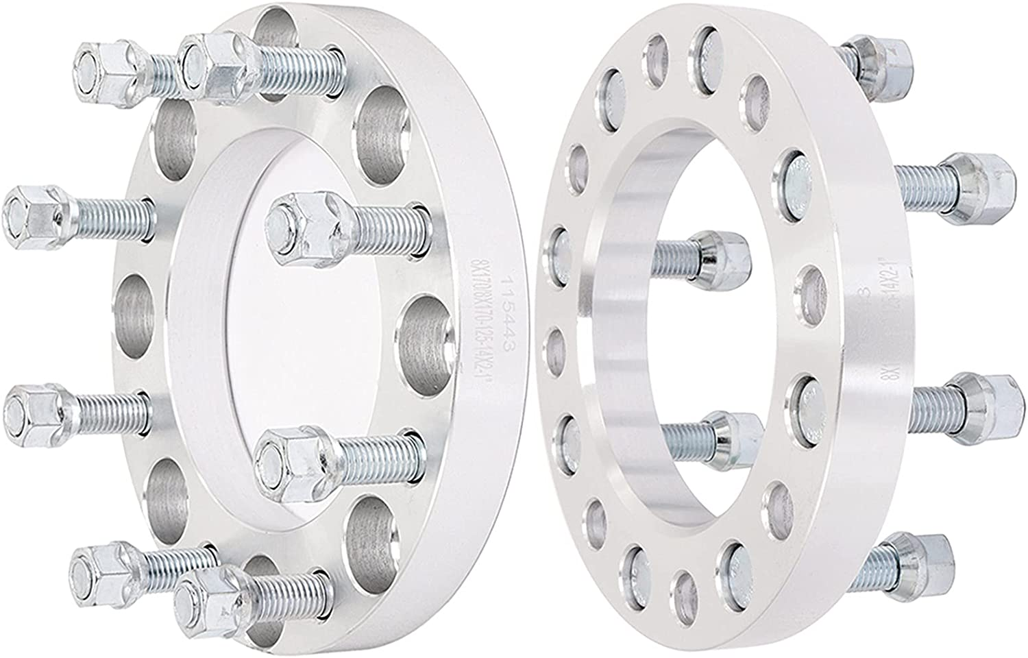 ECCPP Ranking TOP1 2X 1 inch 40% OFF Cheap Sale 25mm Thick Wheel Spacer to 8x170 8 Lug