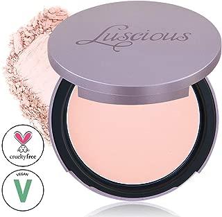 Luscious Cosmetics Velvet Matte Oil Control Pressed Powder Foundation| Vegan and Cruelty Free | Multi-use Foundation & Setting Powder (#00 Lightest Beige w/Pink Undertones 0.35oz)