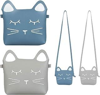 SOTOGO 2 Pack Little Girls Purses Cute Cat Shoulder Cross Body Bag