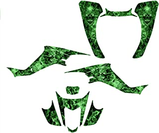 Suzuki LTZ 400 or Kawasaki KFX 400 Graphics Decal Kit Fits 2003-2008 Design No9500 (Green)