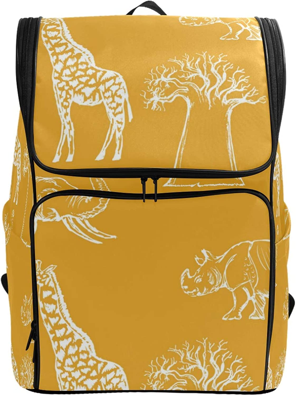 Pure Yellow Giraffe Decorations Laptop Backpack for Women Men,School Backpack Fashion Backpack Fits 15 inch Notebook