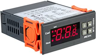 Tykeed AC220V Digital LED Temperature Controller Heating and Cooling Thermostat with NTC Sensor 2 Relays