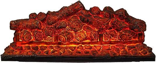 Chimenea Electrónica Con Estufa De Carbón, Efecto De Quema De Carbono Desnudo, Sin Calentador, Estufa Decorativa LED Con Llama Ardiente Simulada 3D, Pila Cuadrada De Carbono Hogar,69×18×28cm