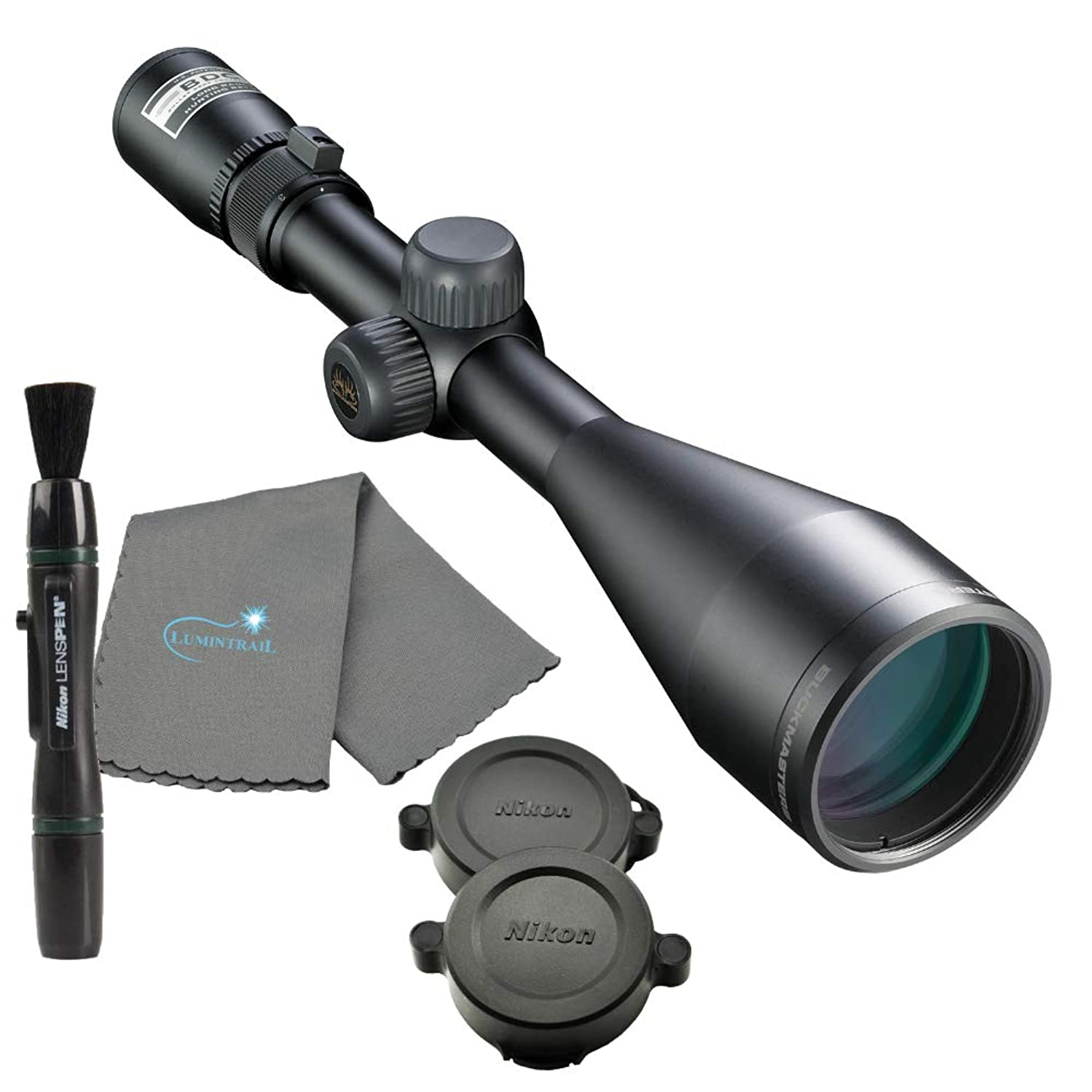 Nikon Buckmaster 3-9x50 Matte BDC Rifle Scope Bundle with a Lens Pen and Lumintrail Microfiber Cleaning Cloth