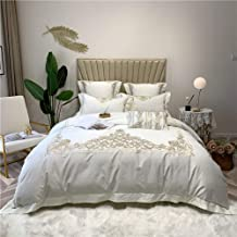 Long-staple Cotton Material Solid White Color Satin Embroidery Patterns Seven Sets Of Bedding Bed Linen Quilt Style Hotel ...