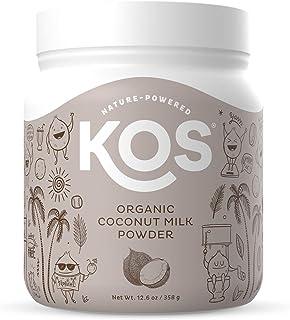 KOS Organic Coconut Milk Powder - Unsweetened, Dairy Free Coffee Creamer - Vegan, Non GMO, Gluten Free, Soy Free, Lactose ...
