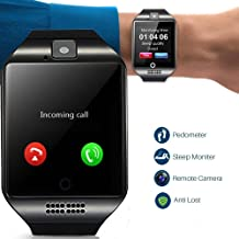Smart Watch Bluetooth Smartwatch Touch Screen Wrist Watch Sports Fitness Tracker with Camera SIM SD Card Slot Pedometer Compatible with iPhone iOS Samsung LG Android Men Women Kids Birthday Gift
