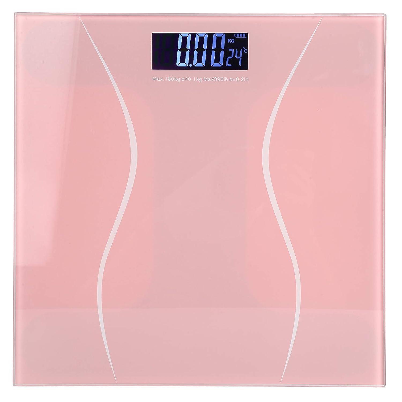 SanZHONGsd - Báscula de peso corporal digital (180 kg, 400 kg), color rosa