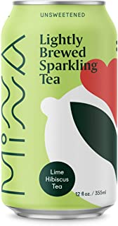 Minna Organic Sparkling Tea, Hibiscus Lime Rooibos Tea, Zero Calorie Unsweetened, Whole 30 Friendly, 12 Fluid Ounce Cans Organic Rooibos Tea (Pack of 12)