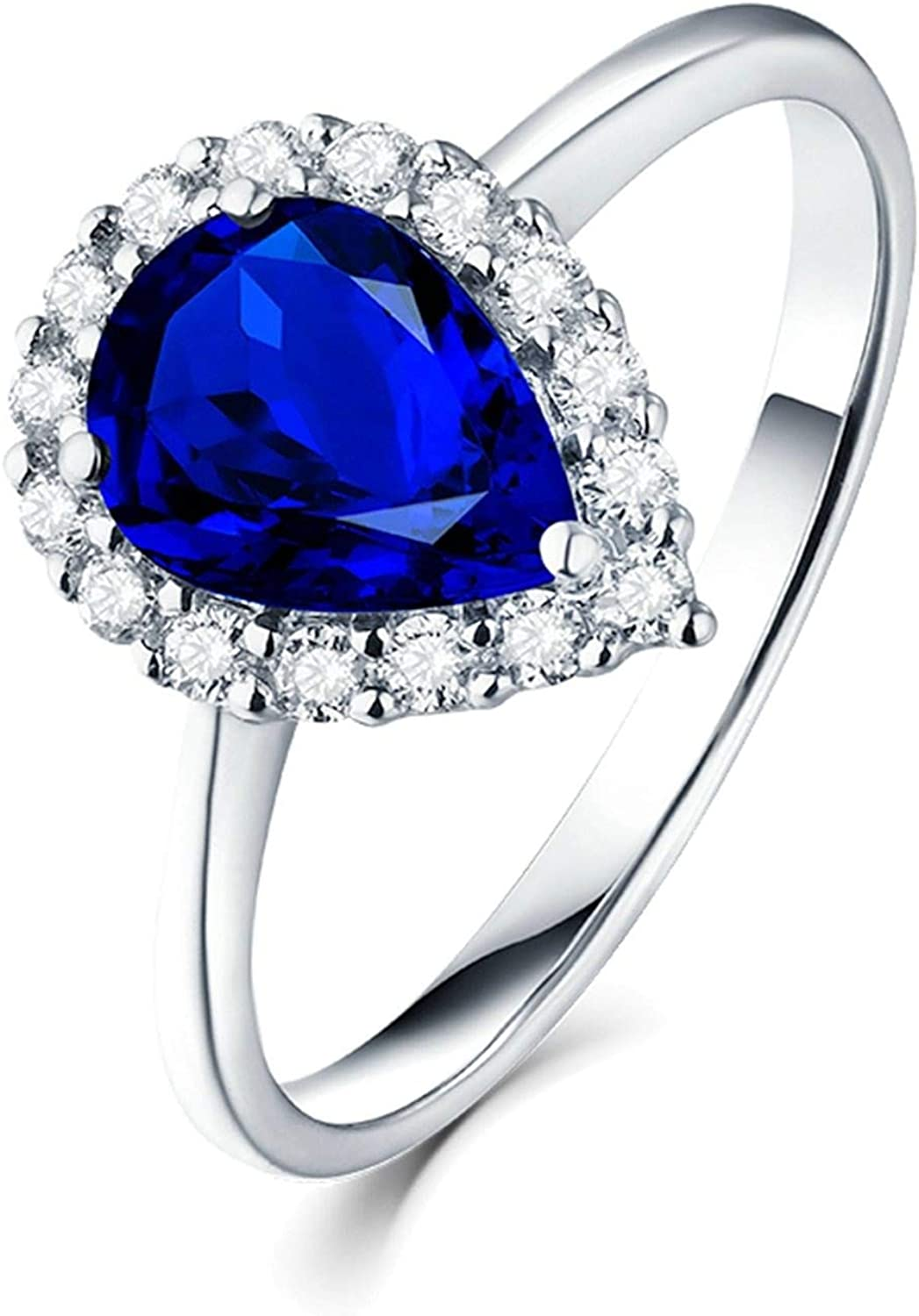 AMDXD Engagement Ring Unique 18K Women New popularity for Gold famous White Tear