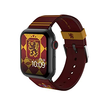 Harry Potter - Gryffindor Edition – Officially Licensed Silicone Smartwatch Band Compatible with Apple Watch, Fits 38mm, 40mm, 42mm and 44mm