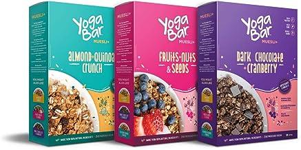 Yogabar Muesli Variety Pack - (Dark Chocolate, Fruits Nuts + Seeds, Almond + Quinoa Crunch) 400g Each