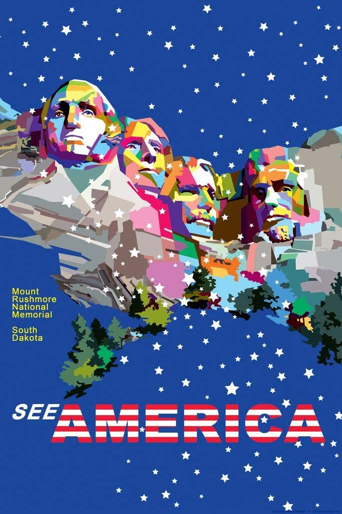 Poster Foundry Mount Classic Rushmore National South Free shipping on posting reviews Dakota by Memorial