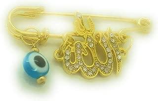 Blue Allah Evil Eye Stroller Pin for Baby - coolthings.us