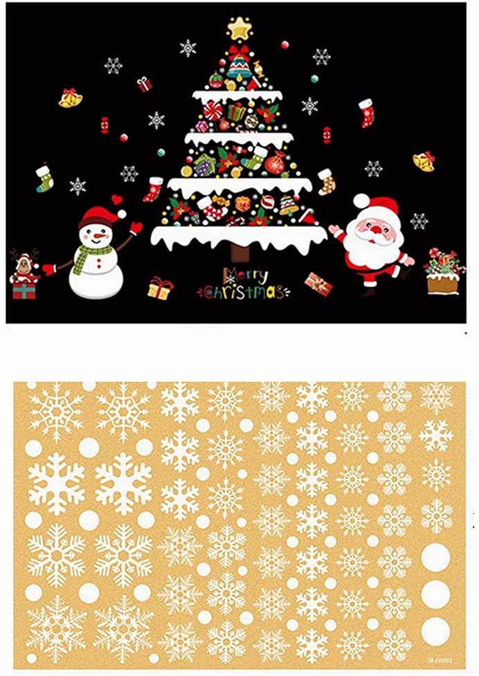 Christmas Snowflake Window Cling Very popular Stickers Xmas Daily bargain sale for Glass Decals