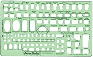 Timely Plumbing Plan View Template, 1/4 inch Scale (9383TA2)