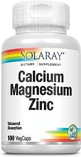 Solaray Calcium Magnesium Zinc, 100 Vegetable Capsules