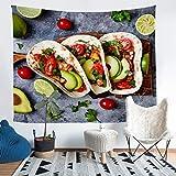Loussiesd Yummy Pancakes - Manta de pared con diseño de tortitas sabrosas para colgar en la pared, ideal para niños y adultos, estilo americano, colorido arte de pared, tamaño grande, 58 x 79