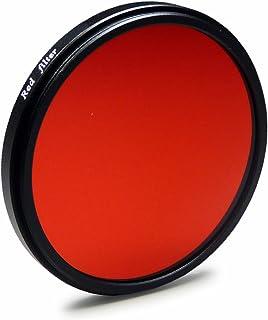Filtro de Color Rojo 67 mm Compatible con Canon EOS 40D | 5D Mark III - Nikon D5100 | D7000 - Olympus E-30 y Mucho más + High-Tech paño de Limpieza