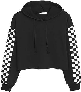 Zaprada Women's Long Sleeve Cropped Hoodie Sweatershirt Casual Crop Tops Hoodies Pullover