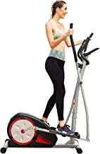 ANCHEER Elliptical Machine Trainer Magnetic Smooth Quiet Driven with LCD Monitor and Pulse Rate Grips (Black)