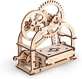 S.T.E.A.M. Line Toys UGears Models 3-D Wooden Puzzle - Mechanical Box / Business Card Holder