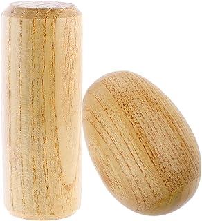 LuDa 1 Set Wooden Hand Shaker + Sand Egg Shaker Maracas Hand Percussion Toys