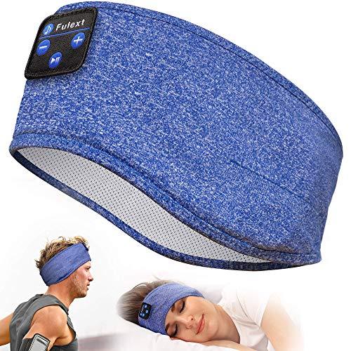 Sleep Headphones, Perytong Auriculares Deportivos con Diadema Bluetooth con Altavoces estéreo HD ultrafinos, Dormir, Hacer Ejercicio, Yoga, insomnio, Viajes en avión, meditación (Azul)