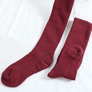 ZhiGe Mujer Calcetines hasta la Rodilla,3 Pares de Calcetines engrosados Rodilla Calcetines hasta el Muslo algodón Mujer otoño e Invierno Calcetines Calientes