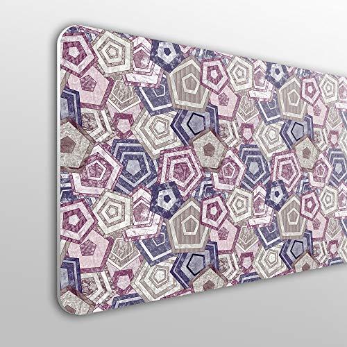 MEGADECOR Cabecero Cama PVC 10mm Decorativo Económico. Patrón Geométrico Abstracto (150cm x 60cm)