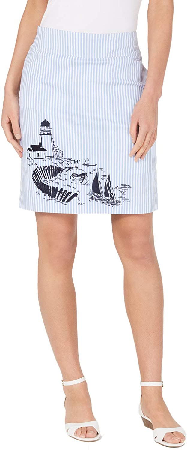 Charter Club Women's Max 58% OFF Striped Graphic Fixed price for sale Skort Pull-On