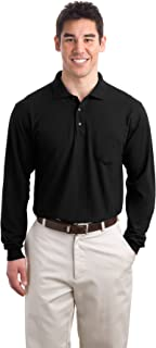 Port Authority Men's Long Sleeve Silk Touch Polo with Pocket