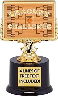 Basketball Bracket Trophy, March Madness Challenge Winner Award Trophy, Customize Engraving