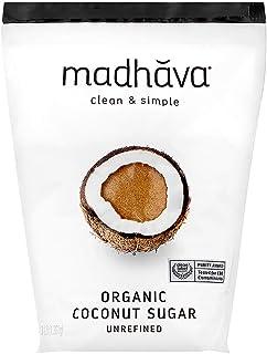 MADHAVA Organic Coconut Sugar 3 Lb. Bag (Pack of 1), Natural Sweetener, Sugar Alternative, Unrefined, Sugar for Coffee, Te...